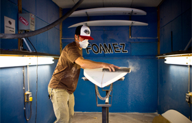 DIY surfboard shaping