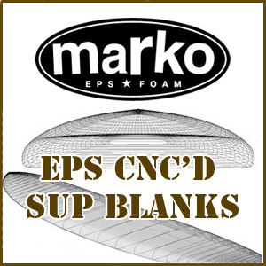 Marko EPS SUP CNC'd Blanks